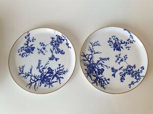 Antique Royal Crown Derby Bone China Bread Plates x 2  23cm