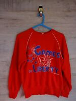 vtg 90s 80s rare format Graphic sweatshirt sweater jumper refA8 size 3