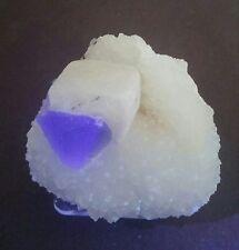 ***TOP SHELF-Quartz Crystal ps Calcite w/Blue Fluorescent Fluorite, mine China**