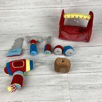 Melissa & Doug Plush Fabric Toolbox Kit Bag Set Soft Toy Role Play Game Builder
