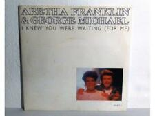 """ARETHA FRANKLIN AND GEORGE MICHAEL - I KNEW...- SINGLE 7"""" - UK - (MB/VG - EX/NM)"""