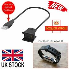 USB Cable Charger Lead Charging + Reset Button for FitBit Alta HR Wristband UK