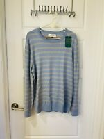 Cashmere Hawker Rye Men's Light Blue Crewneck Sweater Size L New
