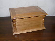 BEDE natural oak wooden ashes casket memorial funeral