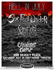 SIX FEET UNDER /DECREPIT BIRTH/CANNABIS CORPSE 2013 PORTLAND CONCERT TOUR POSTER