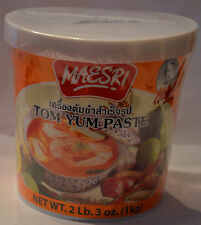 Maesri Authentic Thai Tom Yum Paste Huge Tub 2 lb 3 oz  -Fast Shipping