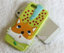 Cute 3D Fox Elephant Matte Easy & Elly jelly soft rubber case cover iphone 5/5s
