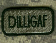 US GREEN BERETS RANGERS PATHFINDER ODA SAS SP OPS hook/loop TAB: DILLIGAF ACU