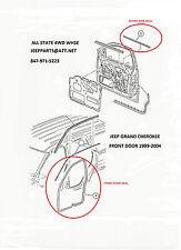 DOOR SEAL KIT 8 PC, FRONT & REAR DOORS, 1999-2004 JEEP GRAND CHEROKEE WJ