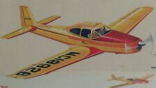 "18"" RYAN NAVION Free Flight FF Balsa Flying Model Airplane Kit Comet 5207"