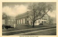 Graycraft 1920s Municipal Building Sherman Texas Postcard 65