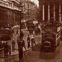 Vintage 1920s Bank Of England Royal Exchange London Postcard UK