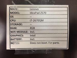 Lenovo IdeaPad Z570 *Parts* i7/4GB/BATT - No OS/HDD/CHRG