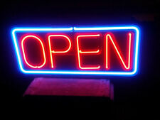 "Neon sign self contained plastic case - ""Open"""