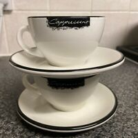 2x Original illy Cappuccino Cups /& Saucers Made in Italy in excellent condition