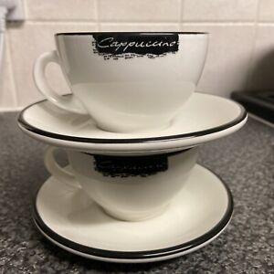 2 x Dudson - Coffeemania - Cappuccino Cup - 210ml Plus Dudson Saucer