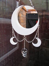 cresent moon window/wall hanger plaque mirror.sun catcher.home decor.diamond art