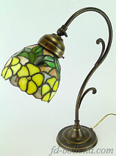 Lampada ottone brunito da tavolo,scrivania,lampade stile liberty e tiffany m35