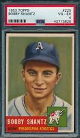1953 Topps Set Break # 225 Bobby Shantz PSA 4 *OBGcards*