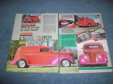 "1937 Ford Sedan Delivery Custom Street Rod Article ""A Sliced Delivery"""