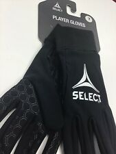 Size 7 Select Field Player II Soccer Gloves BLACK New in package