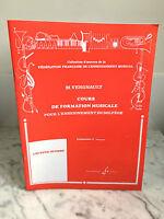 M.Vergnault cours de formation musicale  Gérard Billaudot 1983