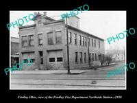 OLD LARGE HISTORIC PHOTO OF FINDLAY OHIO THE FINDLAY FIRE STATION c1930