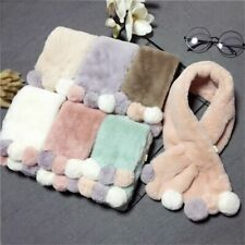 Scarf Scarves Winter Neckerchief Children Kids Fur Collar Pompom Neck Warmers