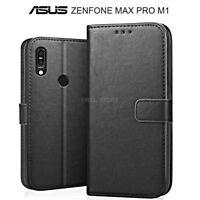 COVER per Asus Zenfone Max Pro M1 ZB601KL ZB602KL PORTAFOGLIO PELLE Nero Leather