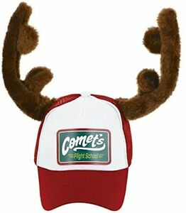 CHRISTMAS HAT REINDEER RED CAP NOVELTY XMAS OFFICE PARTY FANCY DRESS ACCESSORY