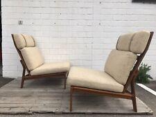 2x Easy Chair Komfort Sofa Teak Danish Modern Mid Century Iversen Ellekaer Ära