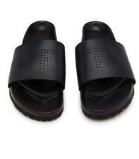 TOM FORD LEATHER WICKLOW SLIDERS BLACK NEW NO BOX SIZE 8 RRP£450