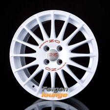 4 Alufelgen OZ SUPERTURISMO WRC Race White + Red Lettering 6x14 ET36 4x100 ML68