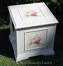 Aufbewahrungsbox Holzbox Kiste Handbemalt Romantisch Rosen Bauernmalerei Shabby