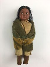 "Vintage Skookum Papoose Native American Indian Doll 7"" Tall"