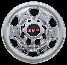 """4 Chrome GMC 2500 3500 HD 16"""" 8 Lug Wheel Skins Hub Caps Rim Simulators Covers"""