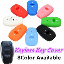 4 Buttons Silicone Cover Key Case Fob For Subaru Forester Outback BRZ WRX 16-17