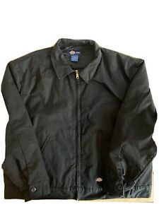 Dickies Eisenhower? Coach Jacket? Lined Jacket, Black XXL 2XL