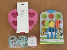 NEW Baking Bundle: Cookie Cutters, Silicon Muffin Hearts Mould, Mini Cupcake Set