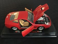Burago 1:24 Scale Diecast Red Ferrari 550 Maranello Car