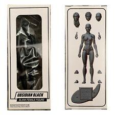 """OBSIDIAN BLACK FEMALE BLANK Boss Fight Studios VITRUVIAN HACKS 4"""" Inch FIGURE"""