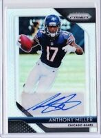 2018 PANINI  PRIZM ANTHONY MILLER ROOKIE AUTO REFRACTOR BEARS PD
