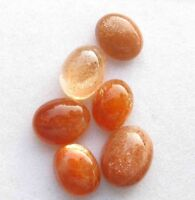 21.90 Cts 100% NATURAL FLASHING GOLDEN SUNSTONE OVAL CABOCHON LOOSE GEMSTONE