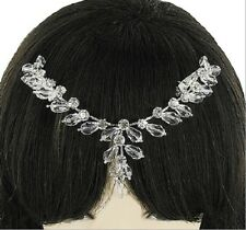 EXQUISITE CLEAR RHINESTONE HEADDRESS IN DROP DESIGN - JUST LOVELY!