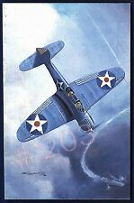 Postcard .. DOUGLAS SBD-3 DAUNTLESS Aircraft Painting by Mark Postlethwaite