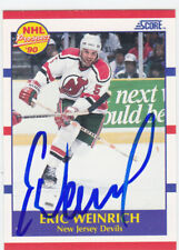 Eric Weinrich Signed Autographed Rookie Hockey Card New Jersey Devils 1990-91