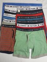 4 MEN'S TOMMY HILFIGER COTTON BOXER BRIEF GUY FRONT VERY LOOSE Fit SIZE S-XL