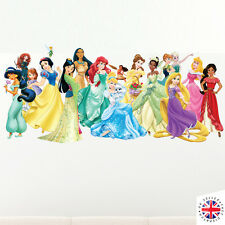DISNEY Princess Wall Sticker Camera da Letto POSTER Ragazze CENERENTOLA ARIEL RAPUNZEL
