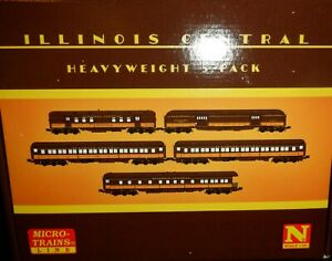 N Scale Micro-Trains MTL 99301790 IC Illinois Central  - 5  Car Passenger Set