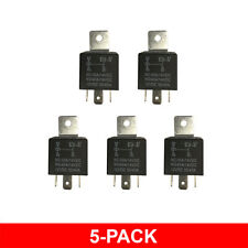 5 PACK 12 VOLT 30-40 AMP 5-Pin Prong SPDT Automotive Auto Car Truck Relay